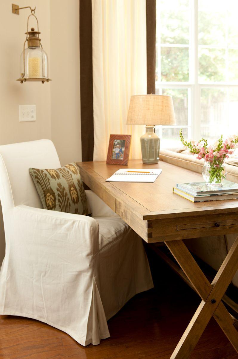 Pin On Diy #office #desk #in #living #room