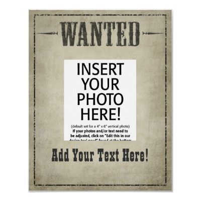 Wanted Poster Template  Fun Ideas