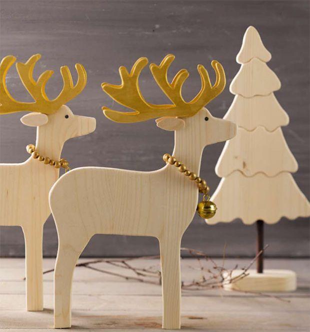 Holzdeko Für Die Winterzeit Weihnachtsdeko Aus Holz