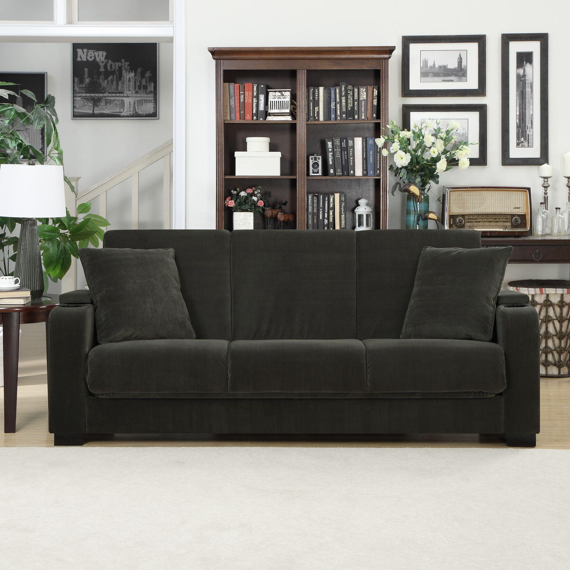 Handy Living Olivia Convert A Couch Sleeper Sofa Living
