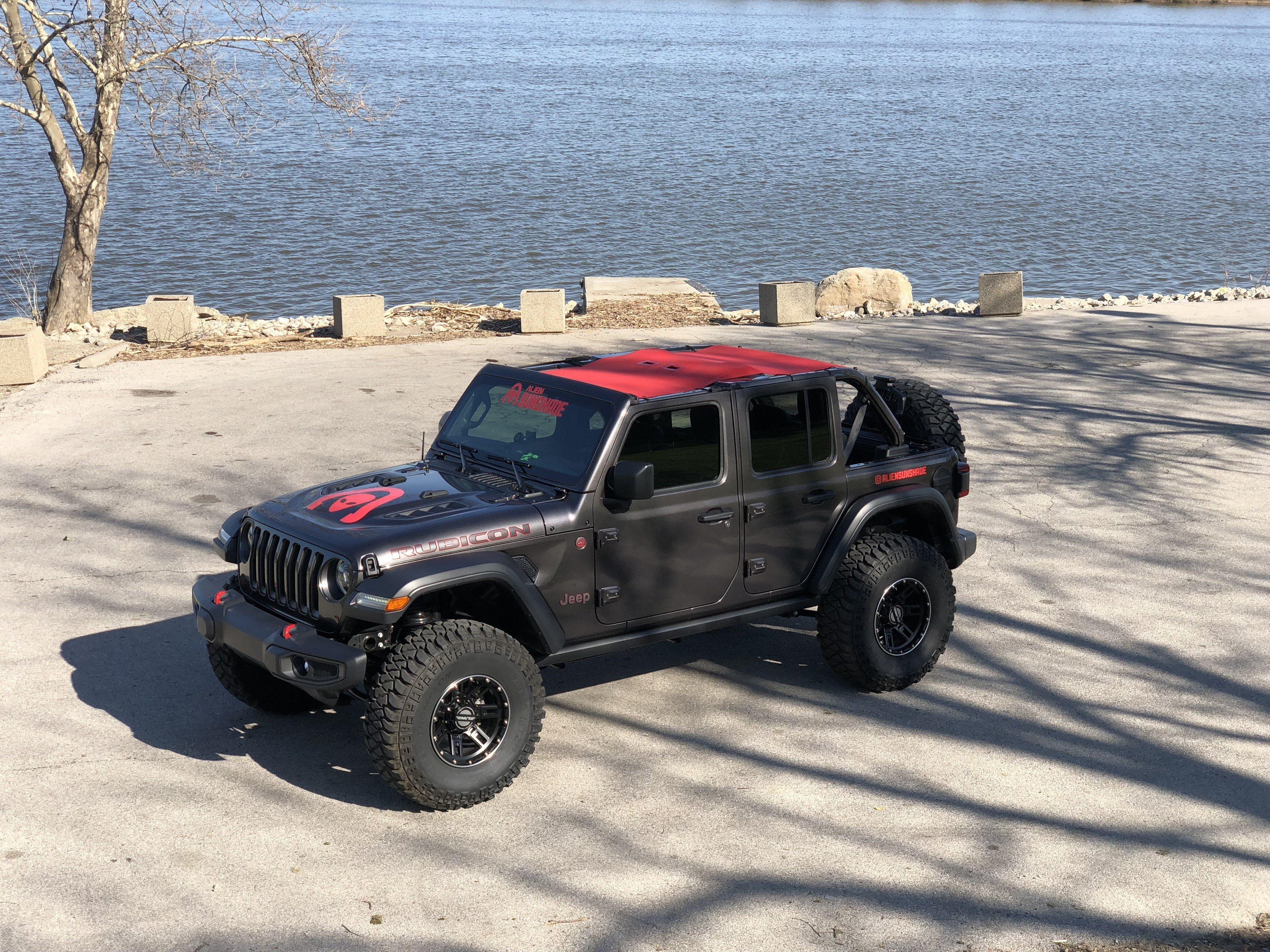 Alien Sunshade Jeep Wrangler Jlu Full Length Sun Shade Mesh Top For 4 Door Unlimited 2018 New Body Style Jeep Wrangler Interior Jeep Wrangler Jeep