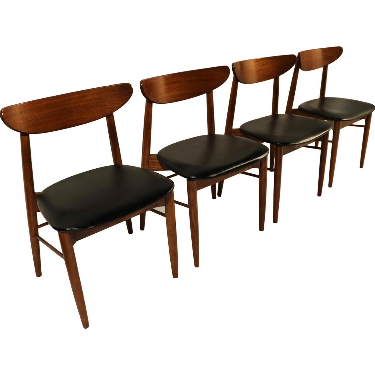 Lane Mid Century Modern Walnut Dining Chairs Vintagebeginshere At Www Rubylane Ruby Vintage Midcenturymodern