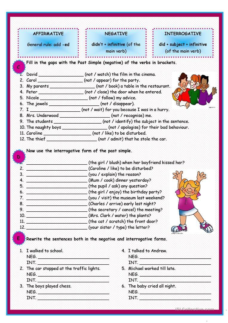 Past Simple of regular verbs Educacion ingles, Presente