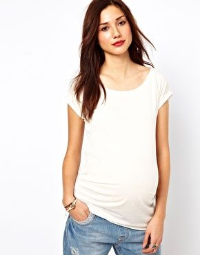 155a7502af425 Maternity Turn Back Sleeve Tee $11.86 | My Maternity. | Sleeves ...