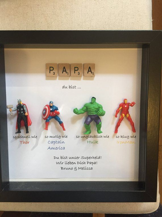Avengers Superhero figures frame gift. Ideal for dad, brother, friend, son, nephew, husband. ...