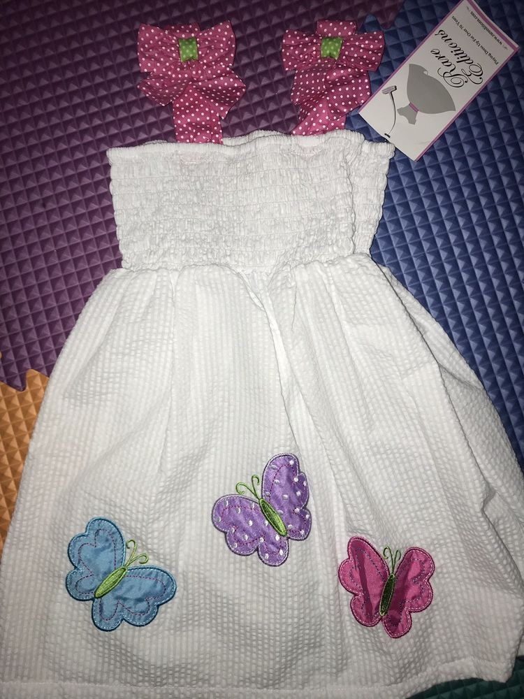 7411e33ad727 Rare Editions girls summer embroidered jumper with bloomers size 12 ...
