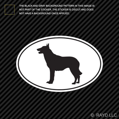 Belgian Malinois Euro Oval Sticker Die Cut Decal Self Adhesive Vinyl dog canine