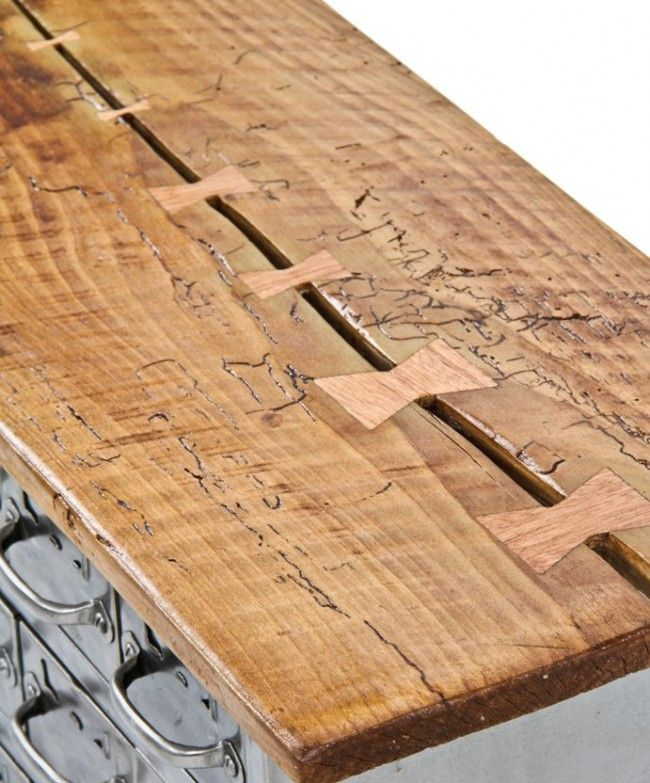 Repurposed c 1950 39 s vintage american industrial equipto for Table joints