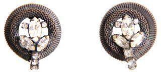 Hattie Carnegie Black Mesh Earrings