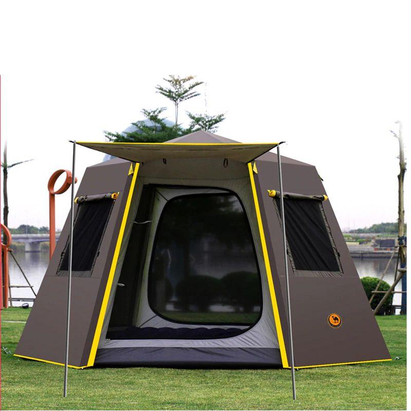 UV hexagonal aluminum pole automatic Outdoor camping wild ...