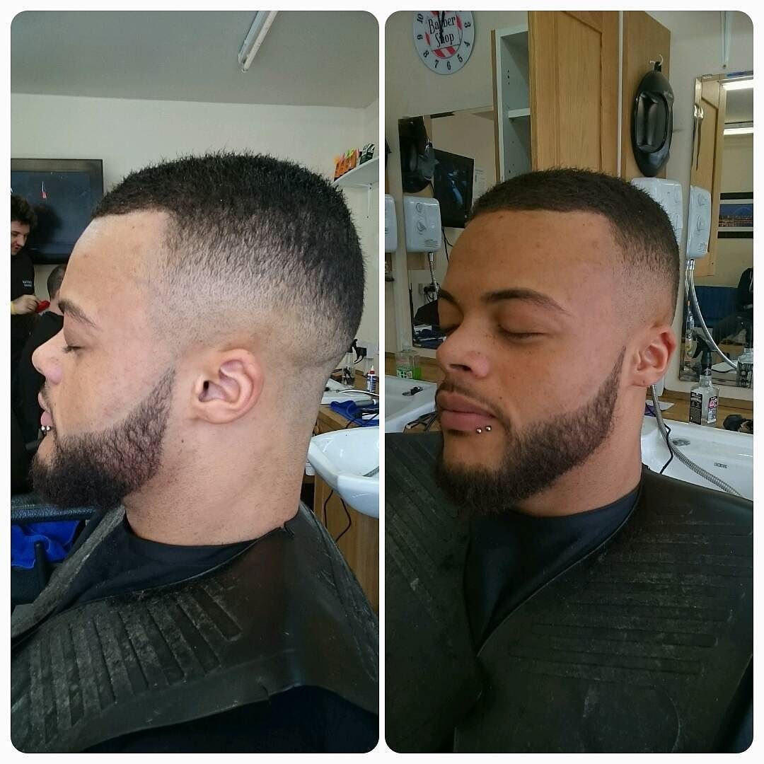 Skin fade and beard lined nice. #barbershopconnectuk #barbershop #barbershopconnect #barberlife #barber #barbering #fade #fademaster #skinfade #beard #clean by rhyspeebles