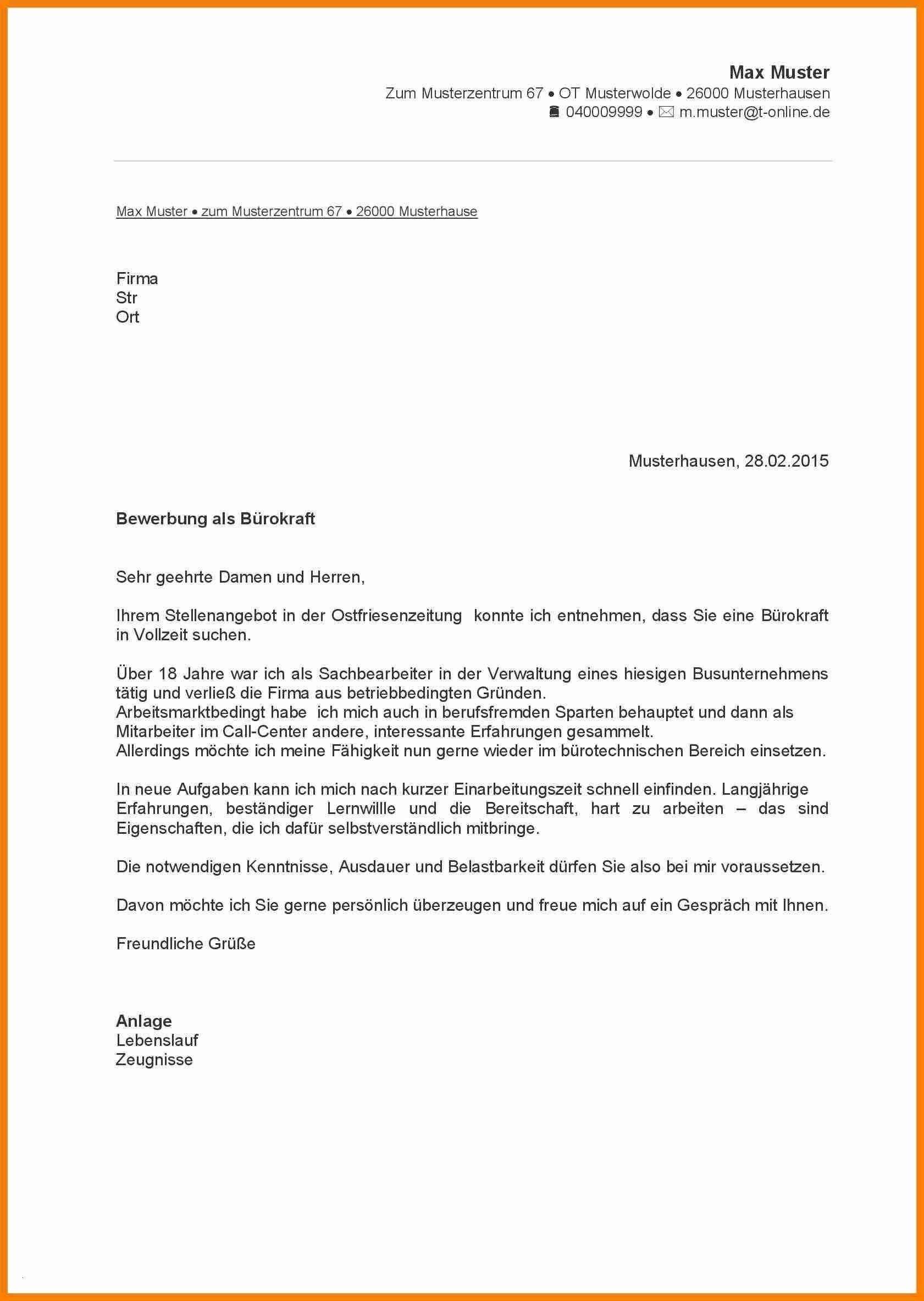 Frisch Bewerbungsvorlage Pdf Briefprobe Briefformat Briefvorlage Lebenslauf Muster Bewerbung Schreiben Lebenslauf