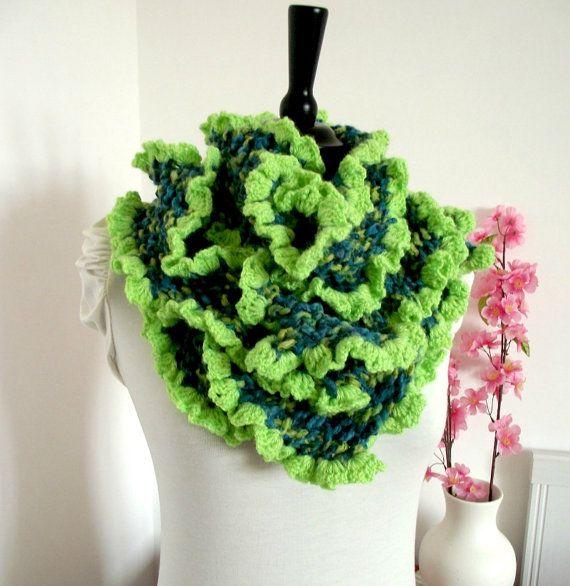 KNITTING PATTERN SCARF with Crochet Trim Rita Scarf | Knitting ...