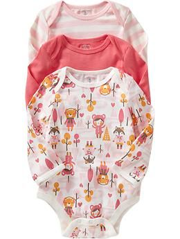 Old Navy Bodysuit 3 Packs For Baby In Forest Pattern For The