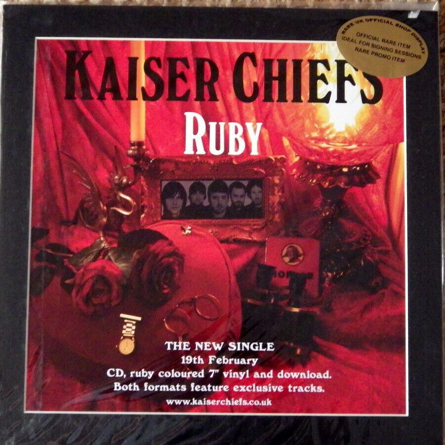 Kaiser Chiefs Ruby Rare Original Shop Display Promo Poster Kaiser Chiefs Kaiser The Originals