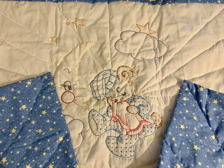 Teddy Bear and Moon Quilt