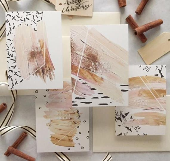Holiday Card Set Christmas Card Set Greeting Cards Boxed Tone and