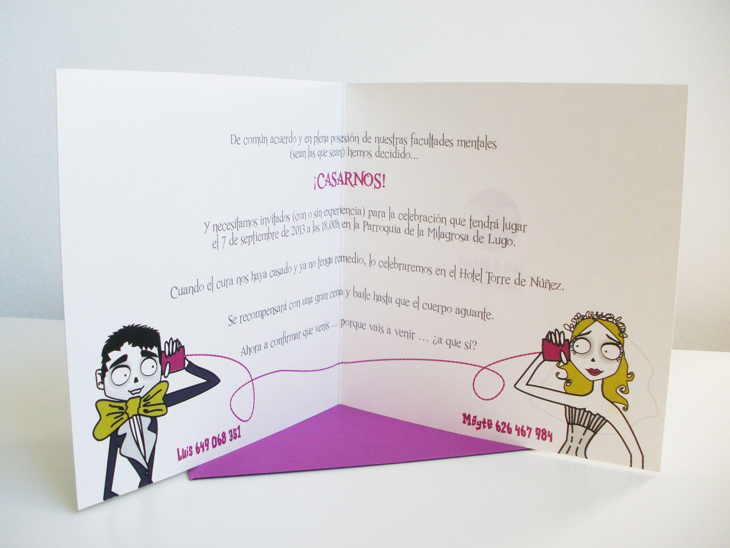 Invitación de boda personalizada inspirada en Tim Burton www ...