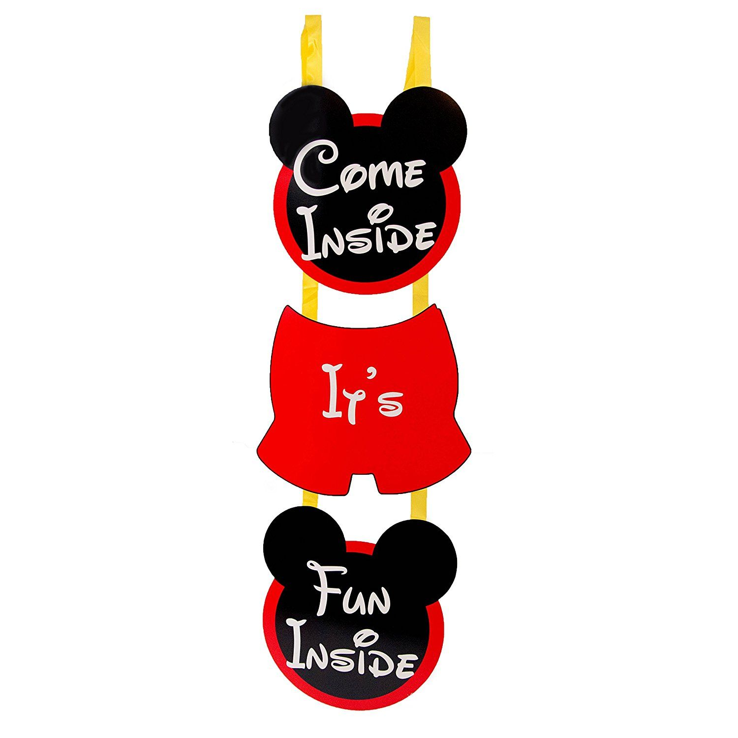 Amazon Mouskariffic Come Inside Its Fun Birthday Welcome Hanger Toys Games