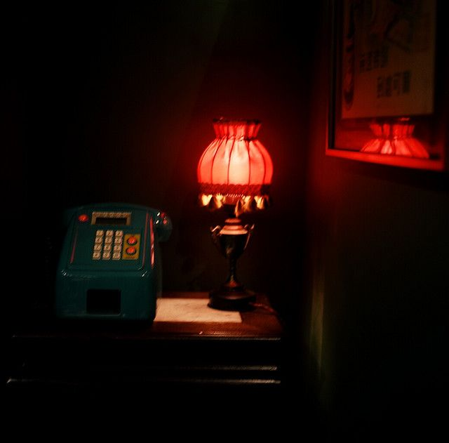 Payphone & Red Lamp