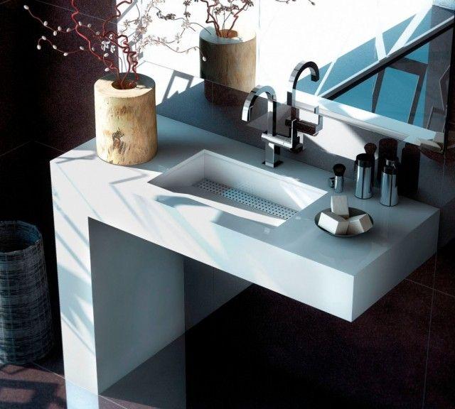 lavabos con encimera para el bao