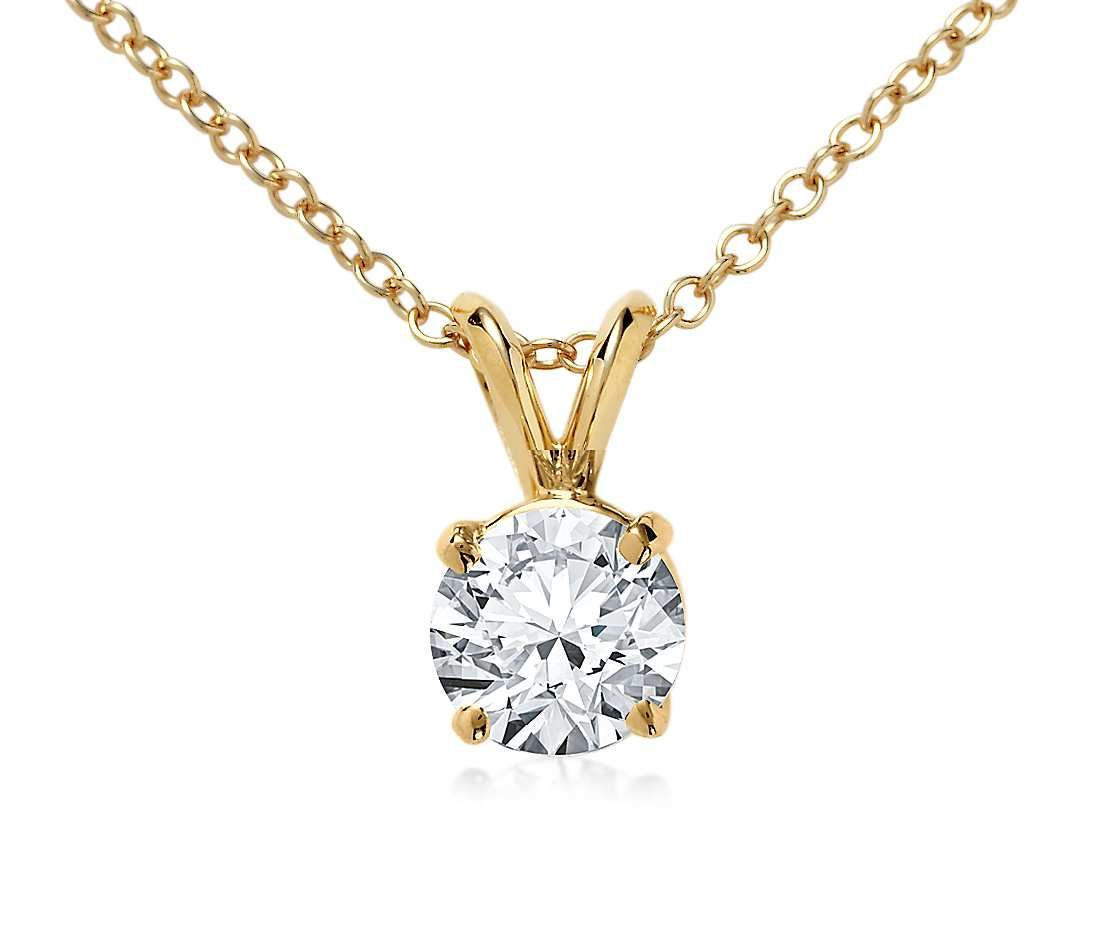 Double bail solitaire pendant setting in 18k yellow gold pendant double bail solitaire pendant setting in 18k yellow gold aloadofball Image collections