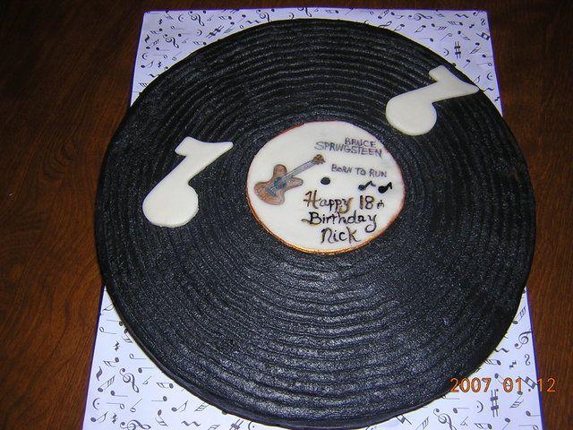 Vinyl Record Cake Rock Star Birthday Party Ideas