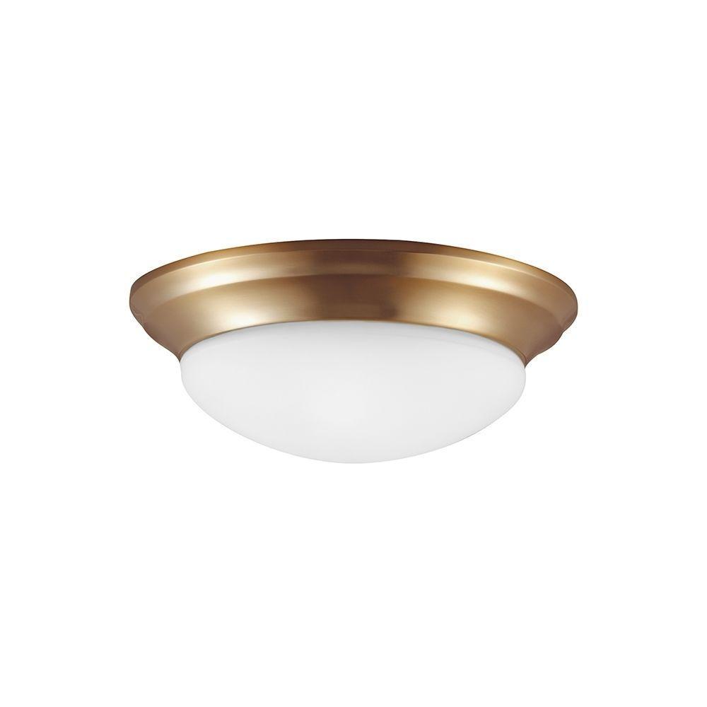 Sea gull lighting nash light satin bronze flush mount gull and
