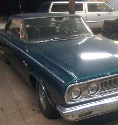 2nd car was this turquoise 1965 Dodge Coronet with push button radio and huge interior.