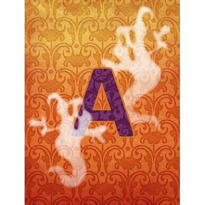 Caroline's Treasures Halloween Ghost Monogram Initial 2-Sided Garden Flag Letter: A, Size: Small