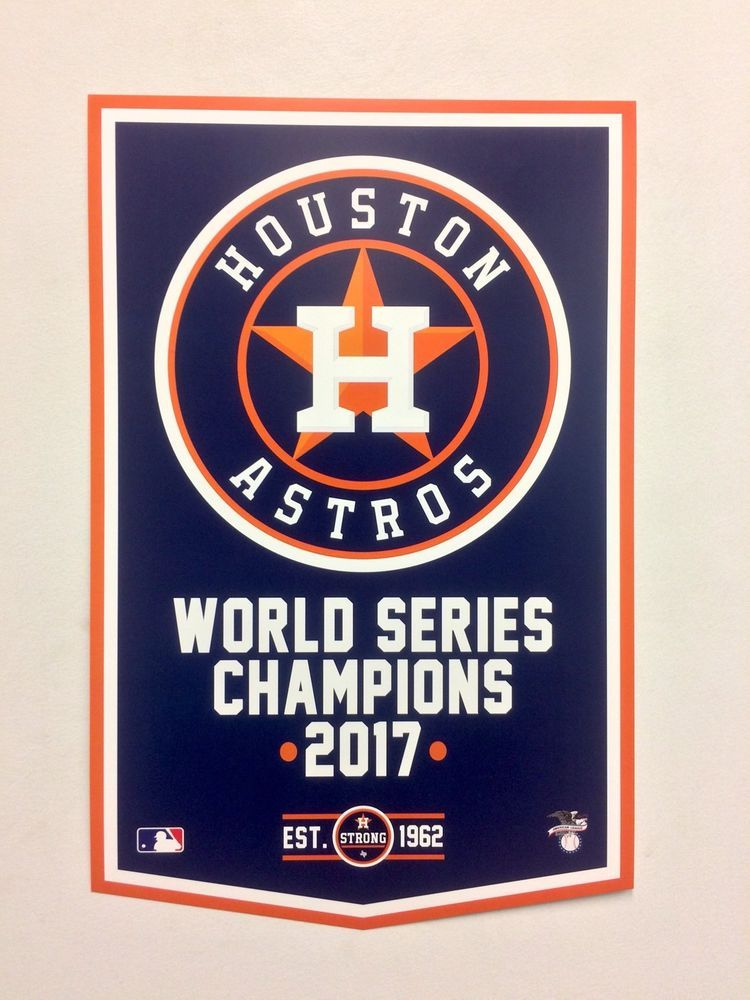 Houston Astros 2017 World Series Championship Banner Style Poster ... 57441f11a42b