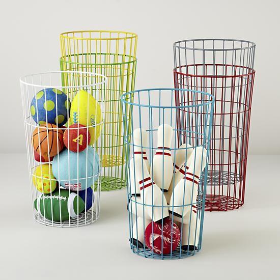 Flea Market Wire Ball Bins