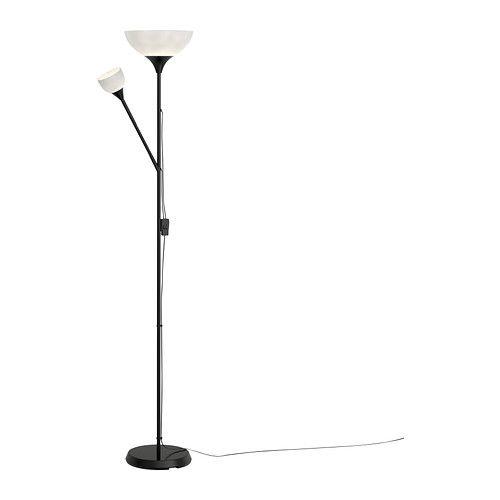 NOT Gulvluplight/læselampe IKEA Disse lamper kan både bruges til generel belysning og læselys og kan tændes og slukkes hver for sig.