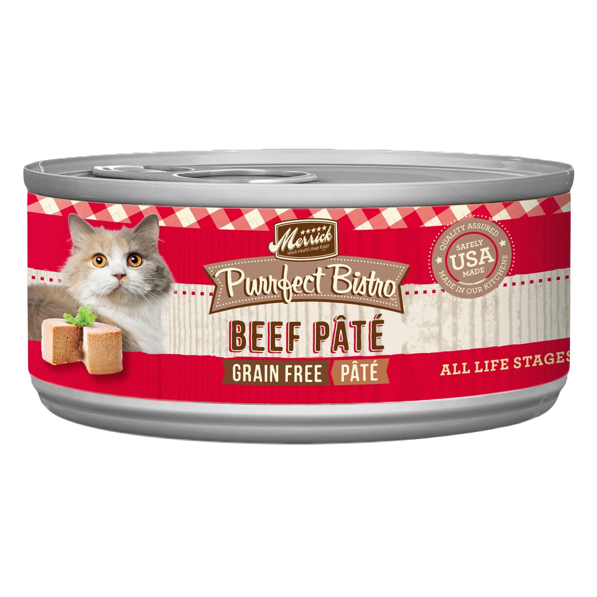 Merrick Purrfect Bistro Pate Wet Cat Food Natural Grain Free