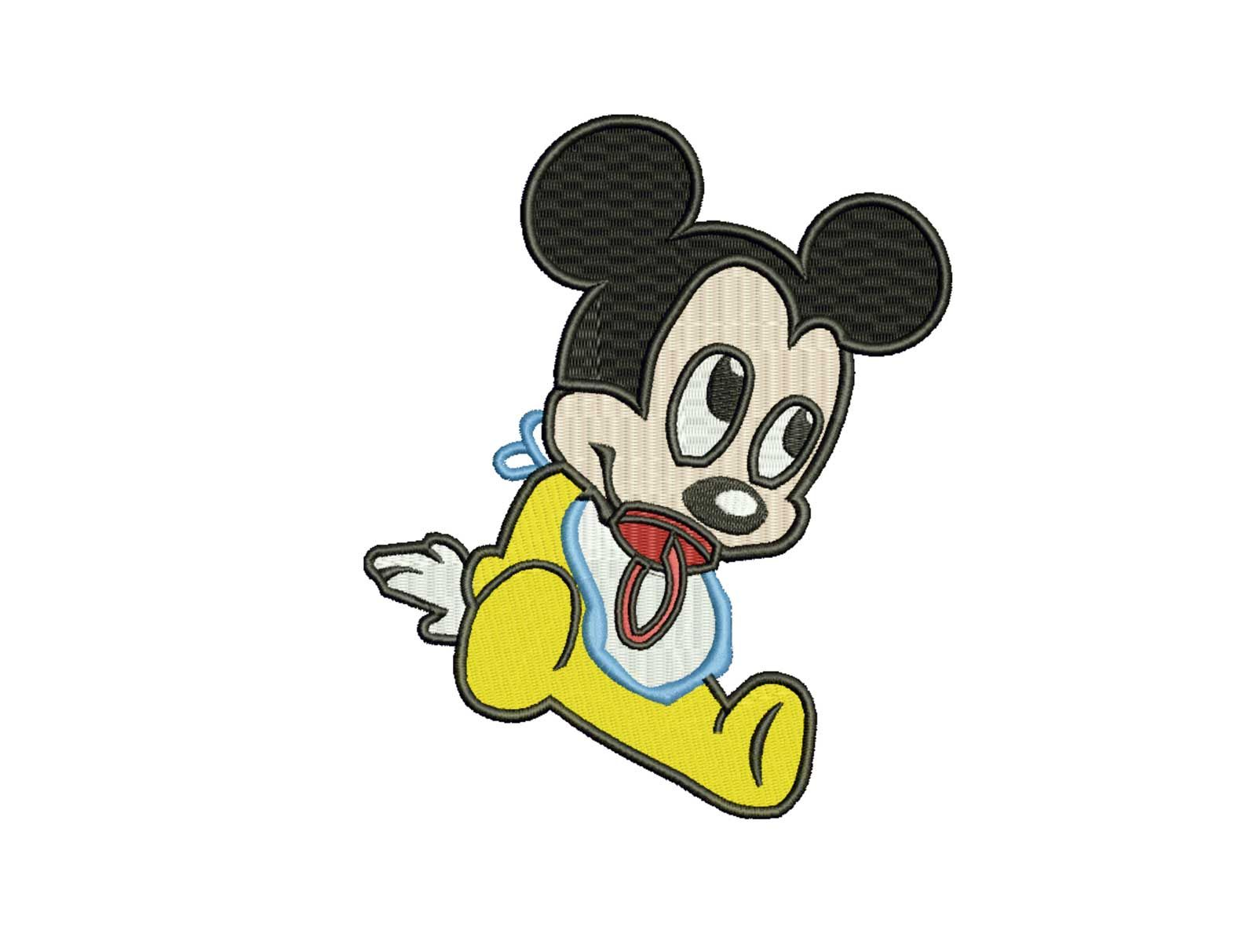 Mickey Mouse Baby Embroidery Design Studio Embroidery Design