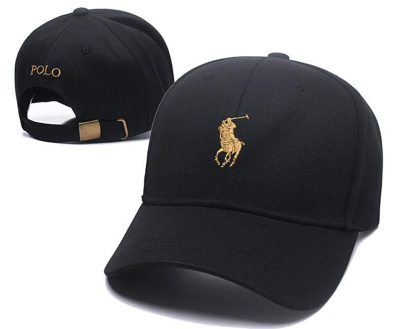 77db0299144 Men s   Women s Polo Ralph Lauren Small Pony Logo Golf Dad Hat - Black    Gold (Copy Ori)