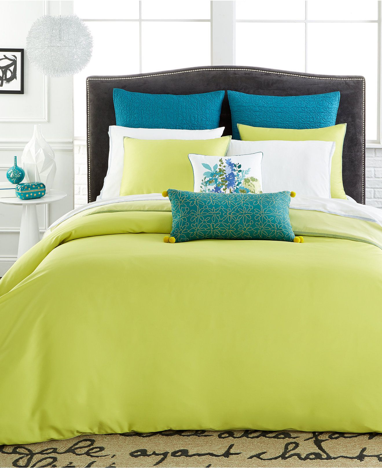 corrie reversible solid celery green comforter and duvet sets duvet covers bed u0026