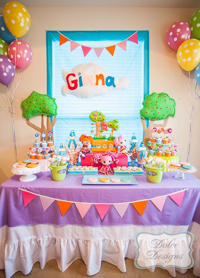 lalaloopsy birthday party and dessert table austin Baby birthday