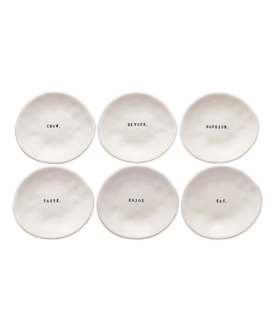 This Eating Words Dishes - Set of Six by Magenta is perfect! #zulilyfinds