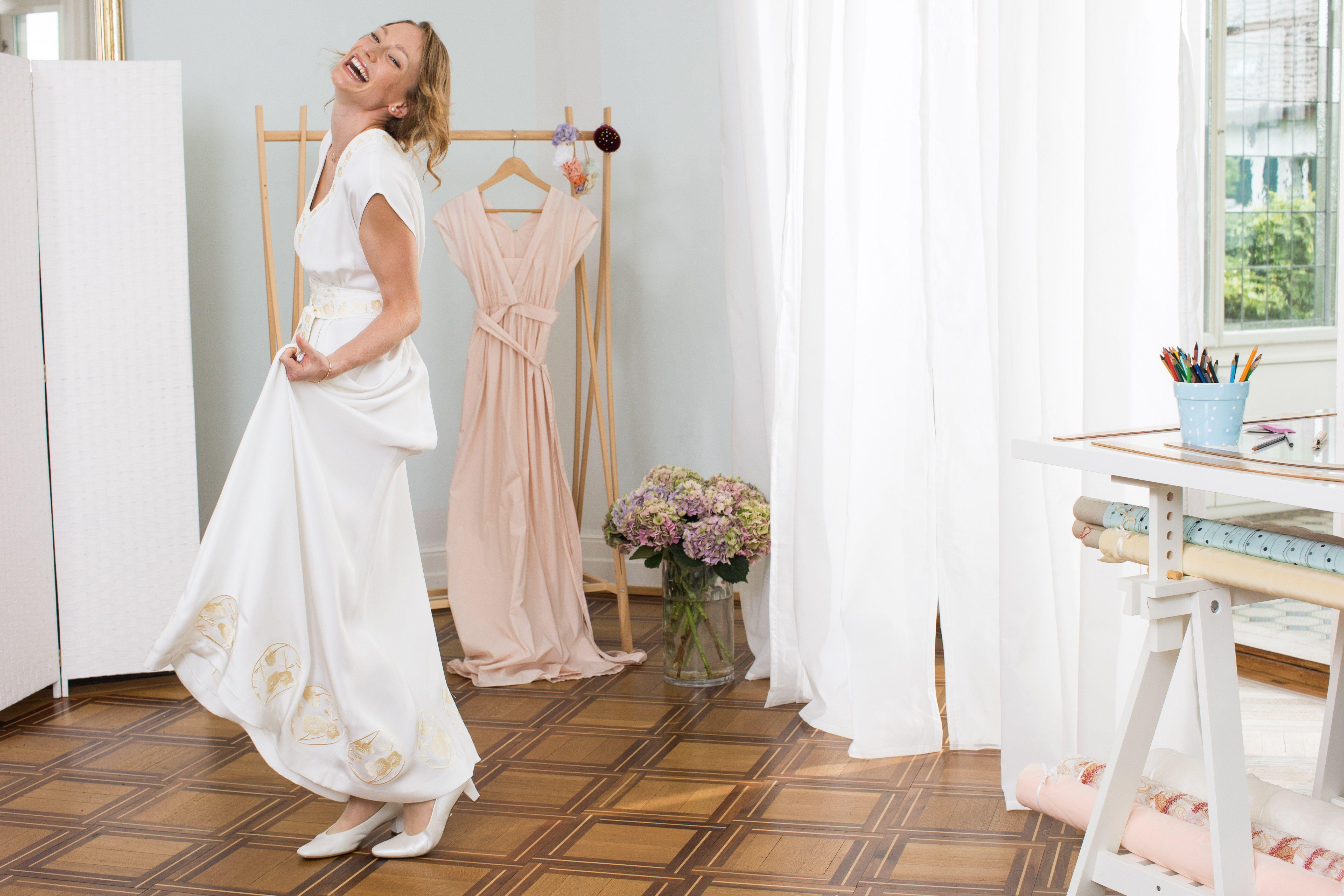 Hochzeitskleid von Kazu Huggler – Nähanleitung und Schnittmuster ...