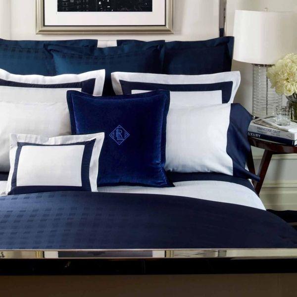 Lauren suite glen plaid navy bedding by lauren ralph for Ralph lauren bathroom