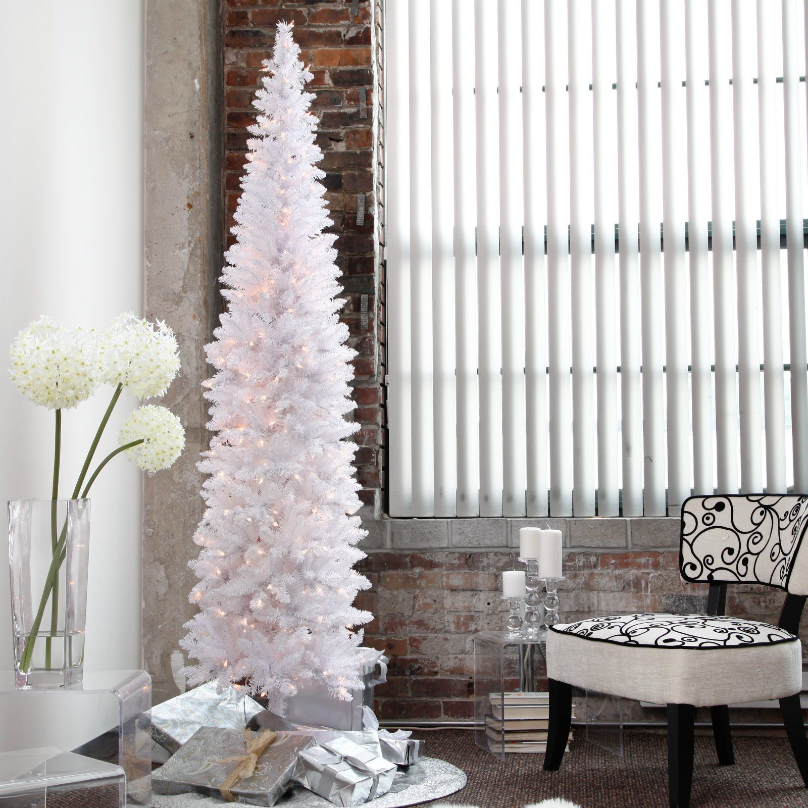 skinny white tree | Holidays | Pinterest | Christmas, Pencil ...