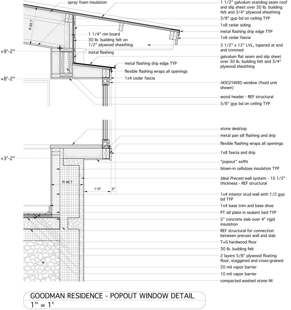 In Situ Studio Goodman Residence Standing Seam Roof Standing Seam Sheathing Plywood