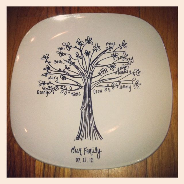 Great Wedding Gifts: Custom Family Tree Commemorative Plate Great Wedding Gift