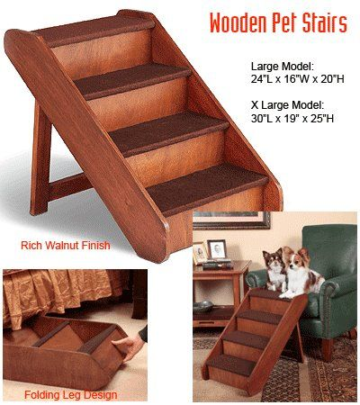 Wooden Pet Stairs #pets #dog