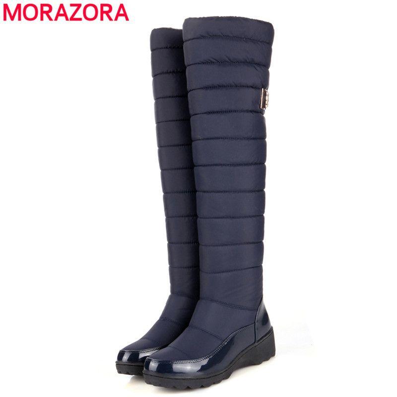 Morazora Kedatangan Baru Tetap Hangat Sepatu Salju Platform Bulu