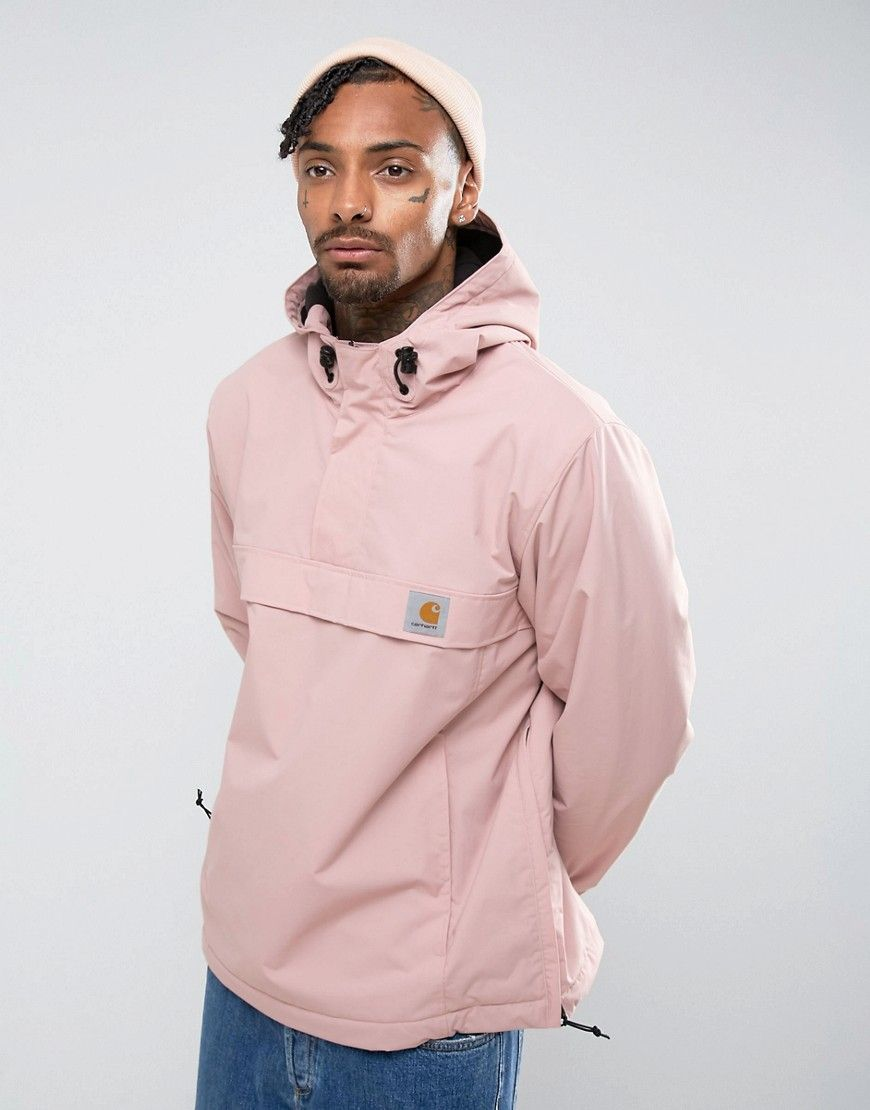 5123ad4a1ce CARHARTT WIP NIMBUS OVERHEAD JACKET IN PINK - PINK.  carhartt  cloth ...