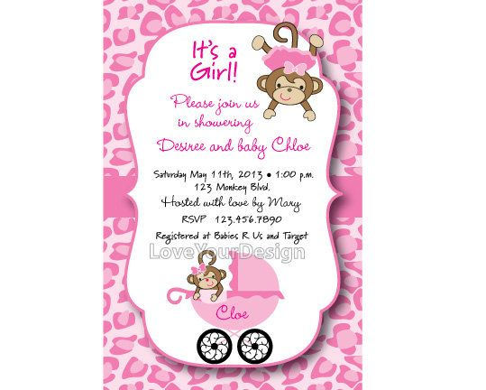 Monkey baby shower invitation in cheetah and zebra pattern jpeg file monkey baby shower invitation in cheetah and by loveyourdesign 1500 filmwisefo