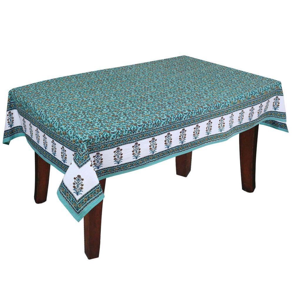 Shalinindia Colorful Indian Home Décor Floral Print RectangularTablecloth Cotto #ShalinIndia