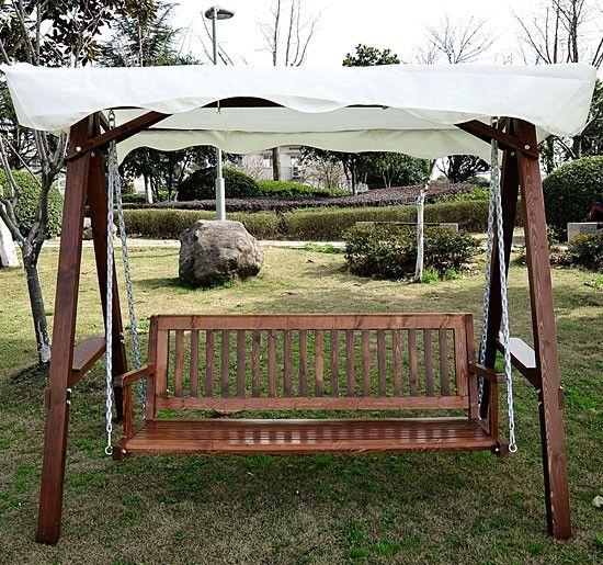 3 seater wooden garden swing chair seat hammock cream   173 99 billyoh garden swing seat   classic 2 seater wooden swing seat      rh   pinterest